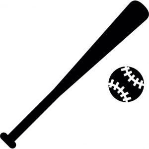baseball bat vector baseball ball