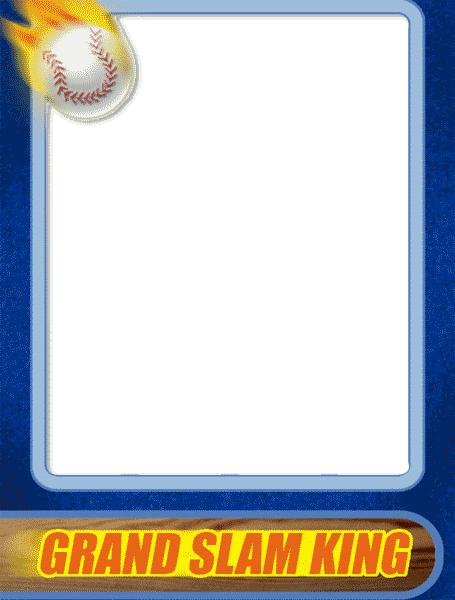 baseball card template