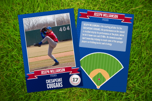 baseball card template front and back o o