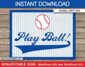 baseball ticket template baseball party sign play ball