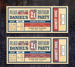 baseball ticket template birthday party ticket invitation