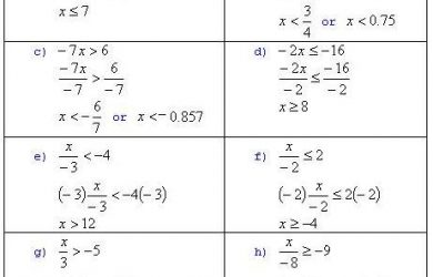 basic algebra problems basicalgebraanswersineq