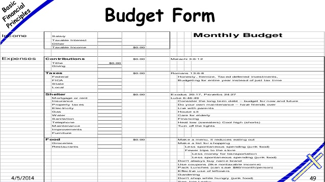 basic budget templates
