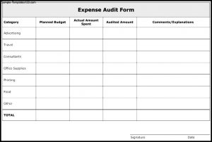 basic budget templates uncategorized nice expense audit form template example with category and planned budget and actual moment spent in table format x