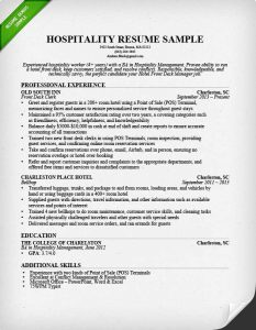 basic cover letter sample hospitality front desk resume sample professional experience