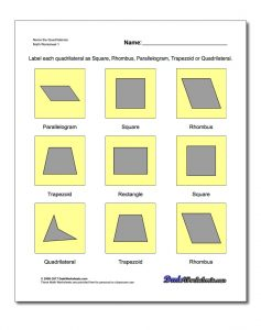 basic geometry worksheets quadrilaterals v