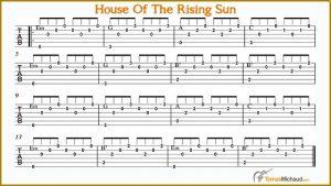 basic guitar chords pdf house of the rising sun fingerpicking guitar