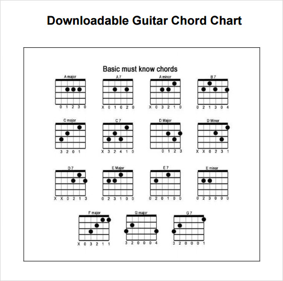 Basic Guitar Chords Pdf Template Business