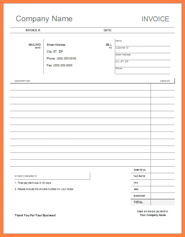 Basic Job Application Form Template Business