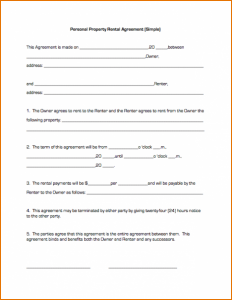 basic lease agreement basic lease agreement template personalpropertyrentalagreementsimple