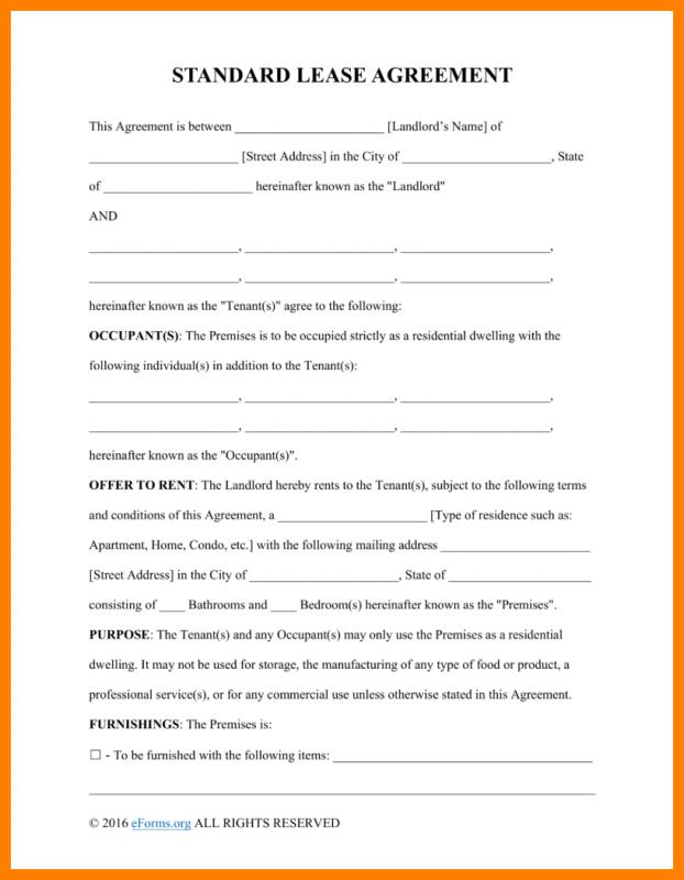 Remarkable image intended for free printable basic rental agreement pdf