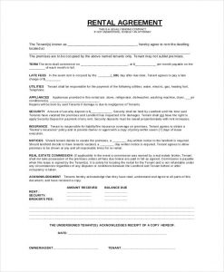 basic lease agreement basic rental agreement