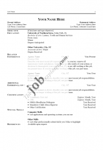 basic letter format application job sample performa resume sample