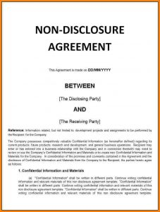 basic non disclosure agreement basic non disclosure agreement non disclosure agreement template