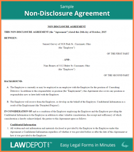 basic non disclosure agreement sample employee non disclosure agreement sample non disclosure agreement