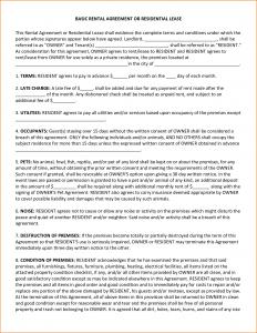 basic rental agreement or residential lease basic rental agreement