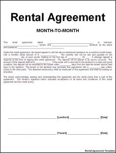 basic rental agreement template rental agreement template