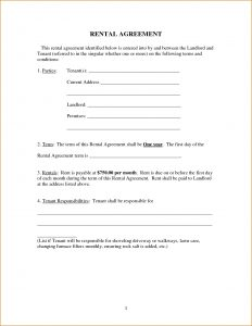 renters lease agreement template