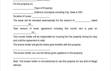 basic rental agreement word document basic rental agreement