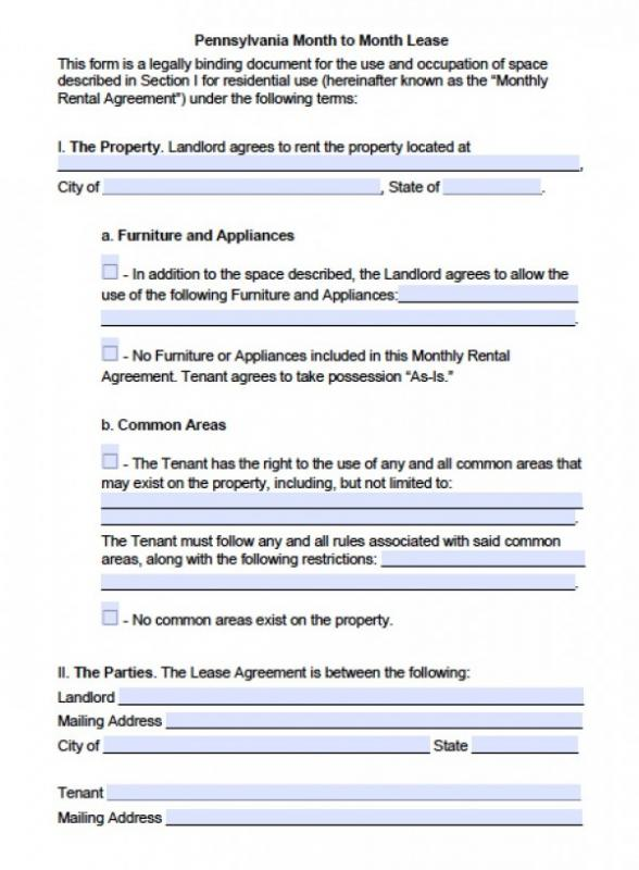 Basic Rental Application  Template Business