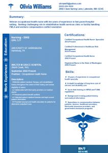 basic resume sample occupational health nurse resume