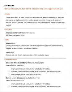 basic resume samples basic resume template for freshers