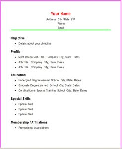 basic resume samples basic ss
