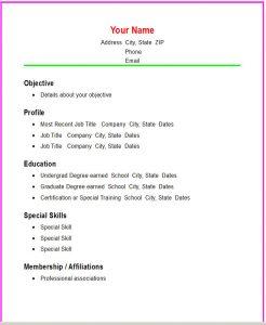 basic resume template basic ss