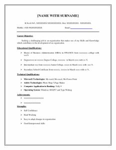 Basic Resume Template Examples Of A Easy Resume Resume Examples Free  Examples Of Resumes Throughout 87  Easy Resume Templates