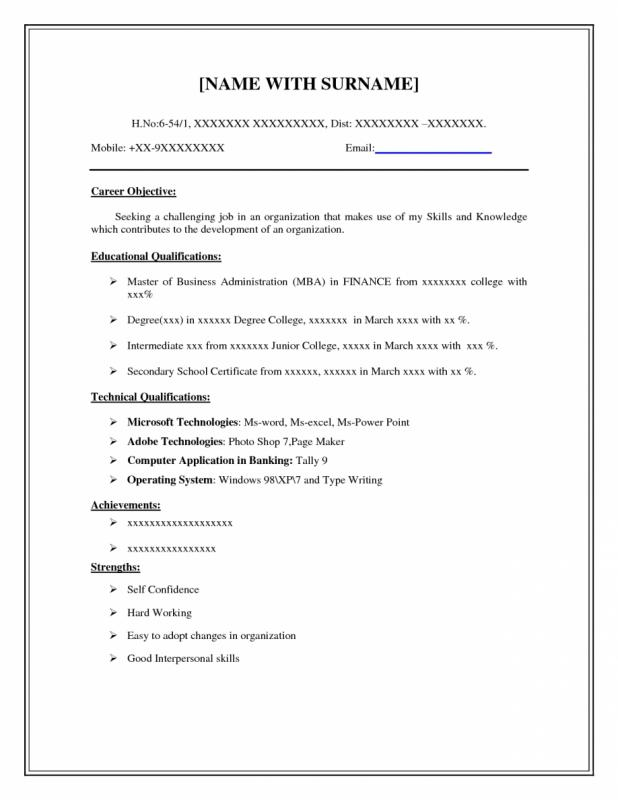 Basic Resume Template | Template Business