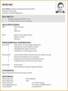 basic resume template word sample of curriculum vitae for job application curriculum vitae examples for teachers