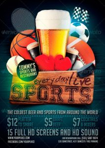 basketball flyer template sports bar pub flyer template preview