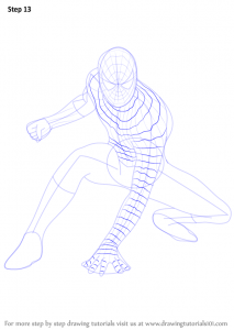 basketball player drawing how to draw spiderman step