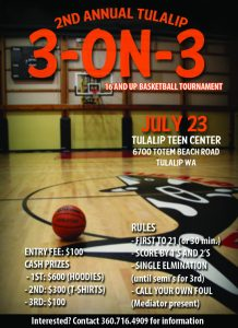 basketball tournament flyer on web