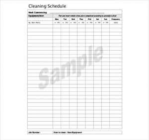 bathroom cleaning schedule cleaning schedule kitchen free download pdf format template