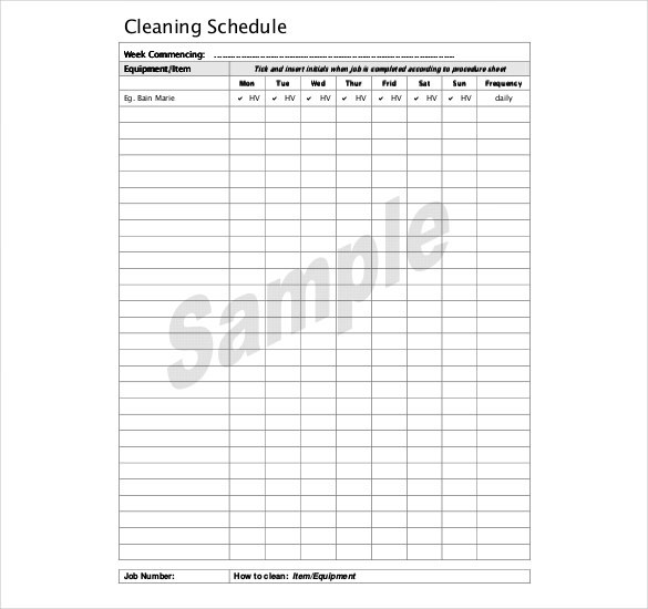 bathroom cleaning schedule