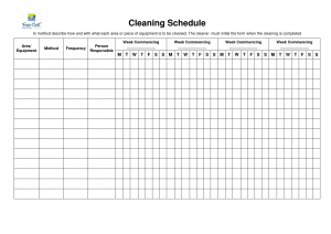 bathroom cleaning schedule house cleaning weekly schedule template