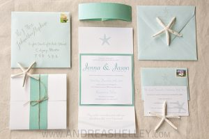 Beach Wedding Invitation Template Business