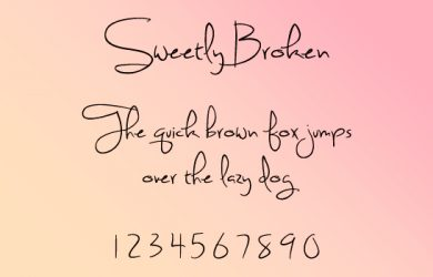 beautiful cursive fonts sweetly broken