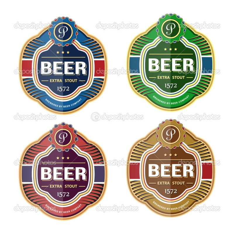 beer bottle label template