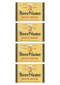 beer bottle label template beerb
