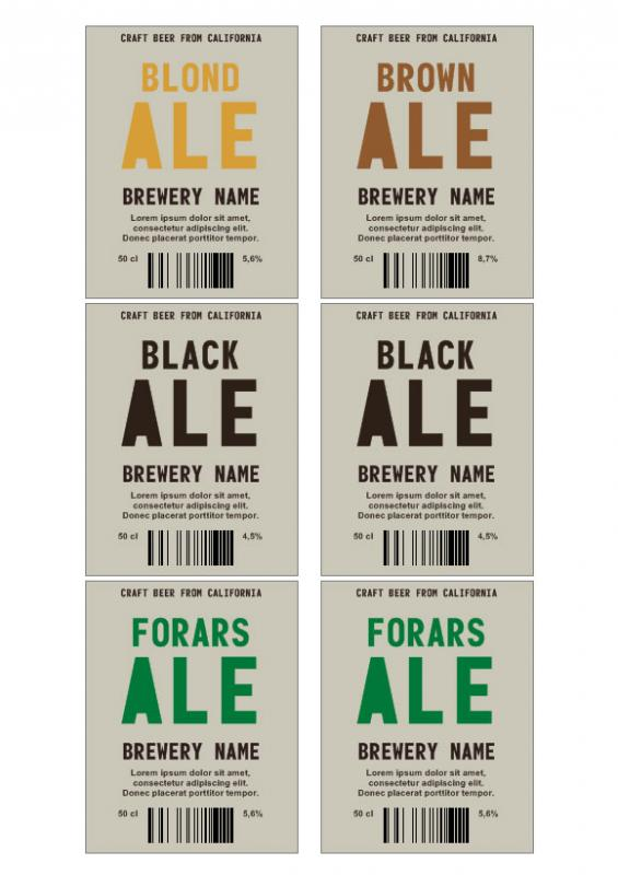 beer label template
