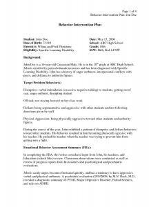 behavior intervention plan example behavior intervention plan template trtovodl