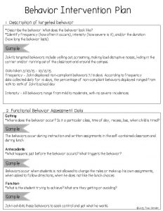 behavior intervention plan example slide