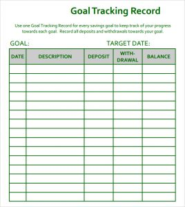 behavior tracking chart goal tracking template excel excel sheet