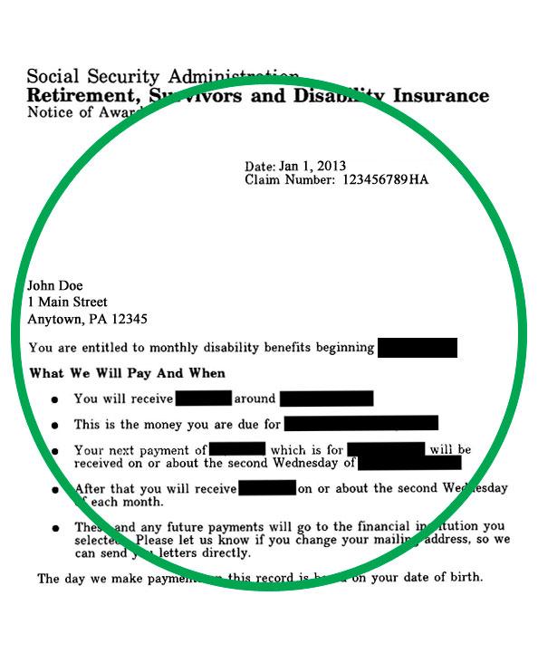 benefit verification letter