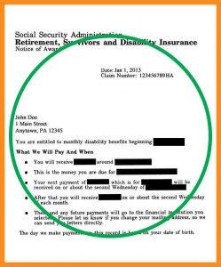 benefit verification letter social security award letter sample pdf social security award letter copy social security award letter letter ssdiaward