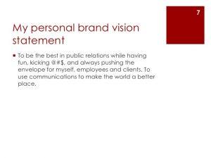 best artist statements create a personal brand vision statement