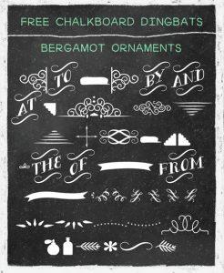 best chalkboard fonts chalkboard dingbats bergamot ornaments