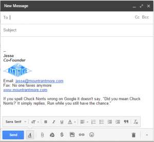 best email signatures chuck norris facts